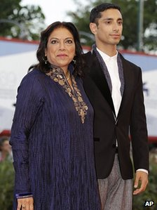 Director Mira Nair with actor Riz Ahmed