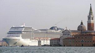 MSC Magnifica in Venice