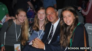 School Reporters with Sir Steve Redgrave 