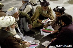 Delegates at Loya Jirga, 2004