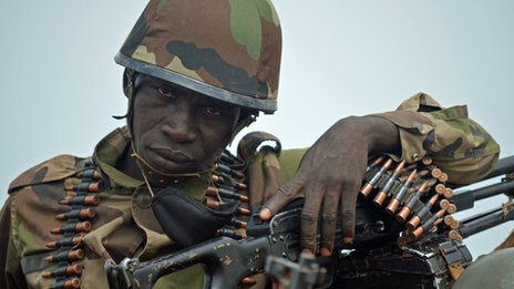 Mali Army soldier, taken north of Mopti