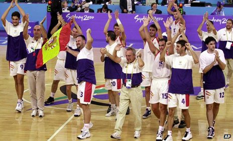 Spanish intellectually disabled basketball team, Sydney 2000