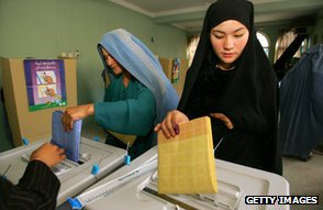 Women voting in Kabul, 2005