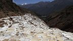 Pools of salt are seen at the Maras mines in Cuzco