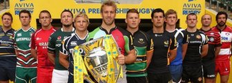 Captains of the 12 Aviva Premiership clubs