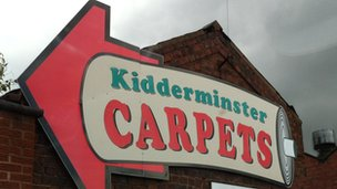 Kidderminster Carpets sign