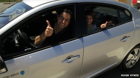 Eitan Fono in his Fluence, photo by Hugh Sykes
