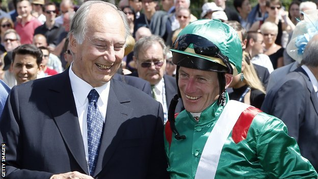The Aga Khan and Johnny Murtagh