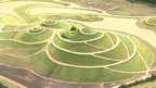 The paths running around Northumberlandia