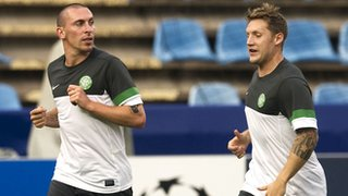 Celtic midfielders Scott Brown and Kris Commons