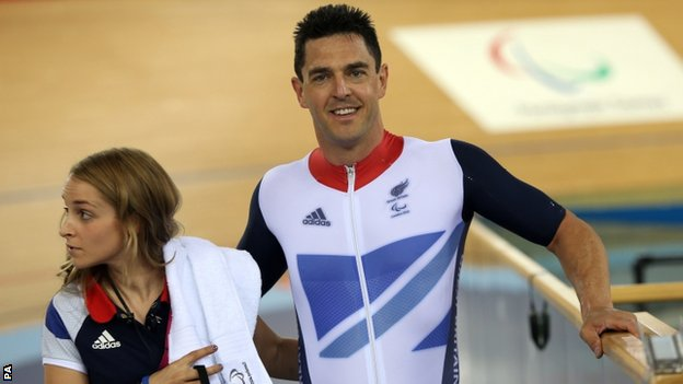 Mark Colbourne (right) won silver