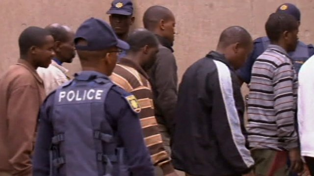 South African miners taken into custody
