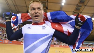 Sir Chris Hoy won two gold medals at London 2012