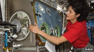 Nasa's Sunita Williams on the ISS