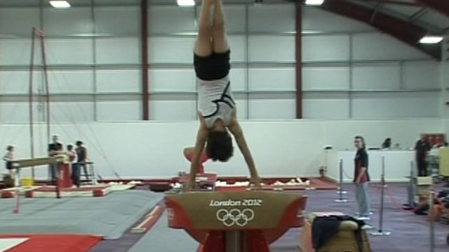 Barnstaple gymnast on 2012 equipment