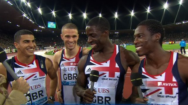 Great Britain's men's 4x100m relay team