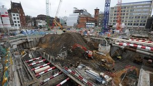 Crossrail station under construction
