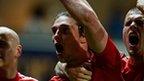 Andy Carroll celebrates scoring against Blackburn