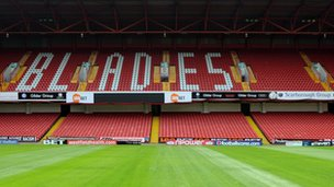 Bramall Lane stand at Sheffield United which is due to be renamed to the Jessica Ennis stand