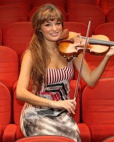Violinist Nicola Benedetti during a photocall at the Glasgow Film Theatre where she launched her new album &quot;The Silver Violin&quot;,