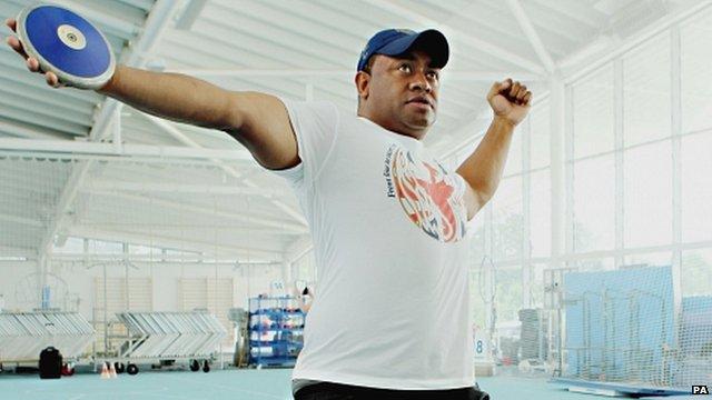 ParalympicsGB discus thrower Derek Derenalagi