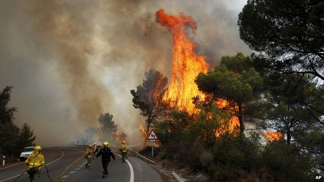 Fire near Marbella