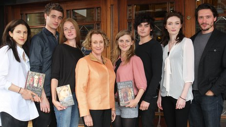 The White Queen cast and Phillipa Gregory