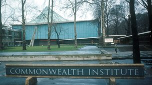 The old Commonwealth Institute building in London, as it was before it was closed down in 2004 (file picture)