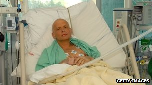 Alexander Litvinenko in a London hospital in November 2006