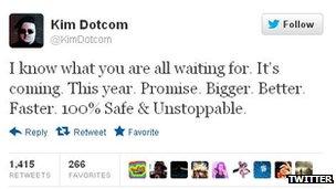 Kim Dotcom Twitter feed
