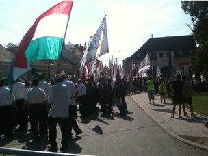 Far-right march in Devecser, 5 Aug 12