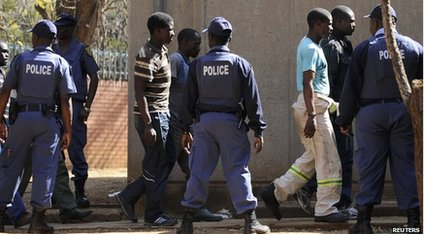 Police arrest miners in South Africa