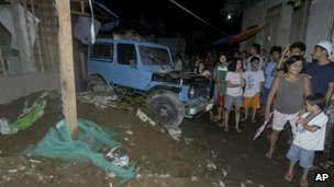 House collapse in Cagayan de Oro city, on Mindanao