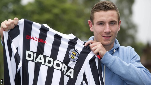 Paul Dummett with his St Mirren strip
