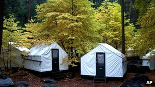 Yosemite tent cabins undated file picture