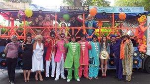 Preston Guild procession float
