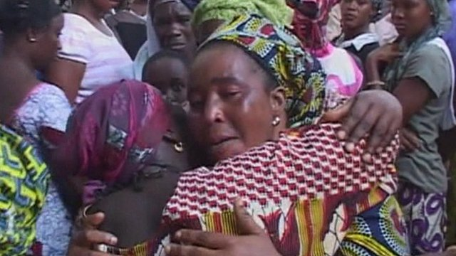 Mourners in Guinea