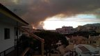 Smoke near buildings in Spain. Photo: Nigel Charman