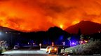 Wildfire behind the mountains in Spain. Photo: Diane Sutton