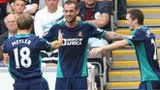 Steven Fletcher celebrates after scoring for Sunderland