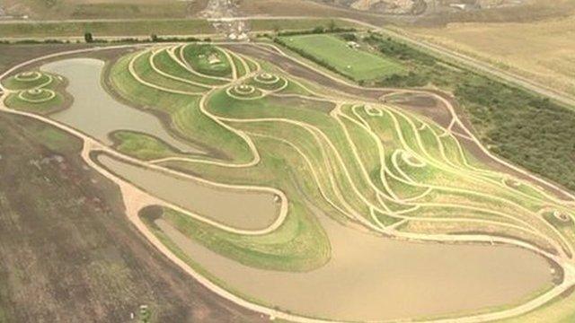 Northumberlandia aerial shot