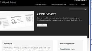 Doctor&#039;s website