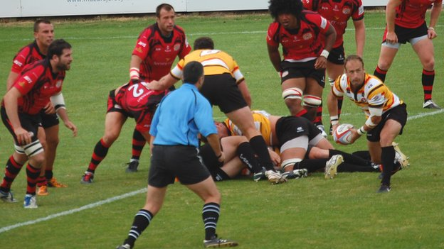 Jersey v Cornish Pirates 2012