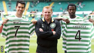 Miku, Neil Lennon and Efe Ambrose