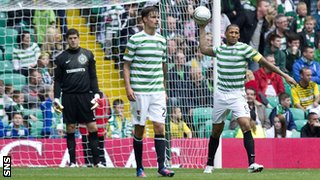 Fraser Forster, Mikael Lustig and Kelvin Wilson