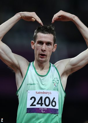 Michael McKillop was a runaway winner of the T32 title over 800 metres