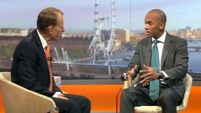 Andrew Marr and Chuka Umunna