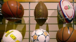 A selection of balls - archive generic image