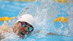 Japan's Takuya Tsugawa competes in the men's 200m freestyle S14 heat
