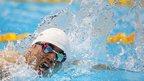 Japan's Takuya Tsugawa competes in the men's 200m freestyle S14 heat